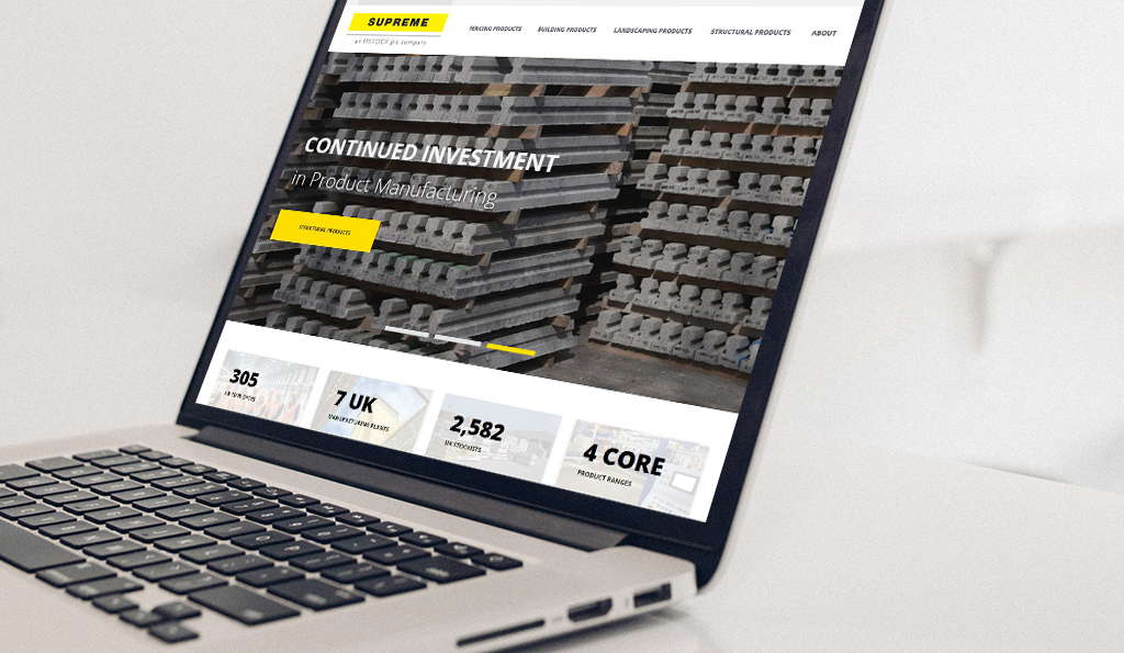 Ibstock PLC | Supreme Concrete | PureNet Umbraco Website Build